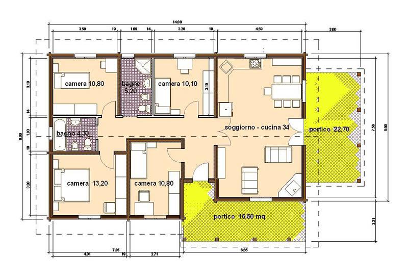 Appartamento 120 mq progetto ko61 regardsdefemmes - Planimetria casa 120 mq ...