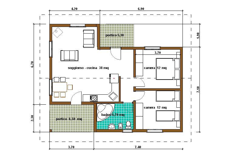 Planimetria casa 80 mq es53 regardsdefemmes for Progetto appartamento moderno