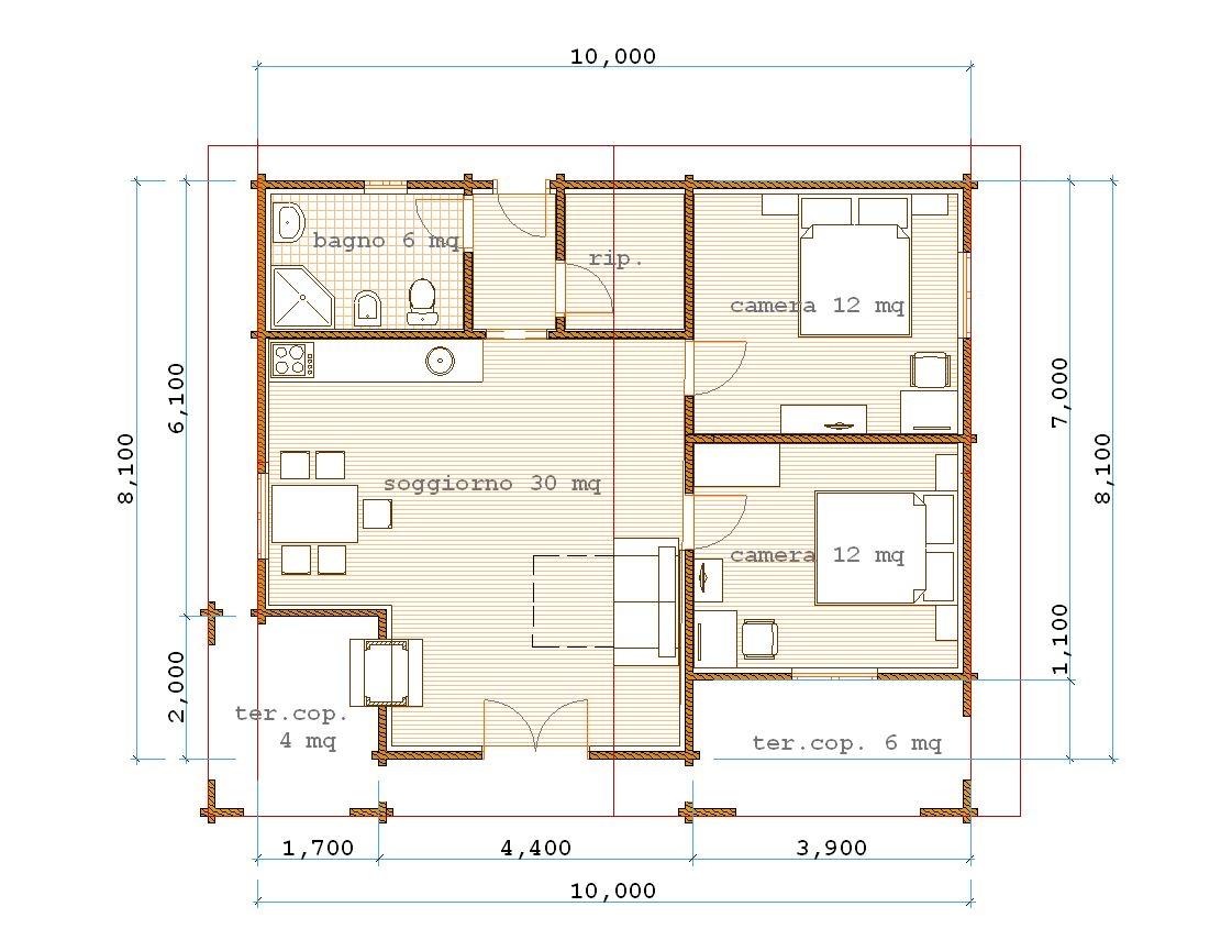 Pianta appartamento 80 mq duylinh for - Planimetria camera da letto ...